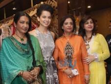 Kangana Ranaut with designer Kapil and Mmonika Studio Photos