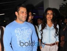 Salman Khan at screening of  O Teri Film Photos