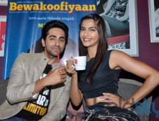 Sonam Kapoor and Ayushman stuns during Bewakoofiyan promotion Photos