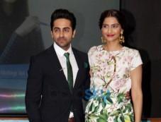 Sonam Kapoor and Ayushmann during  Bewakoofiyaan promotion Photos