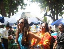 Tara Sharma Flower Petal's Holi at Breach Candy with Cancer Patient Photos