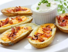 Fried Potato Skins With Cheese Photos