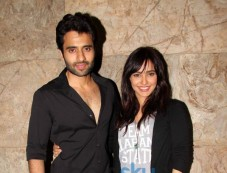 Jackky Bhagnani and Neha Sharma at Youngistaan screening Photos