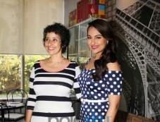 Manisha Koirala with Sonakshi Sinhna at Prevention at novotel magazine launch Photos