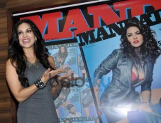Sunny Leone launches men magazine Mandate April issue Photos