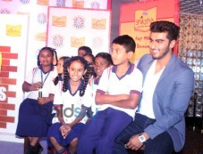 Arjun Kapoor campaigns for P&G Shiksha 2014 Photos