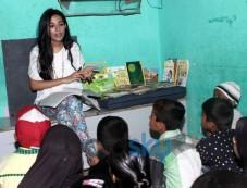 Amrita Rao visits Pratham NGO at Andheri Photos