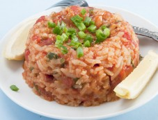 Exotic Mexican Red Rice With Salsa Photos