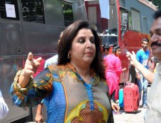 Farah Khan spotted at Filmistan Studio Photos