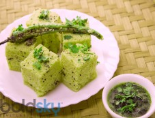 Healthy Palak Dhokla Recipe Photos