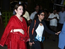 Neeta Ambani snapped at airport with her Daughter Photos