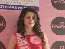 Taapsee Pannu Brand Ambassador of Chennai Turns Pink Photos