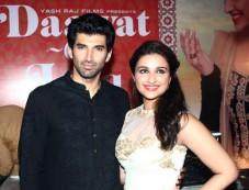 Parineeti Chopra and Aditya Roy Kapur during Trailor Launch of Daawat E Ishq Photos