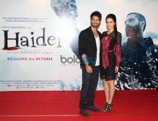 Shraddha Kapoor and Shahid Kapoor at Haider Trailor Launch Photos