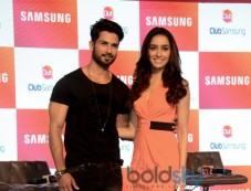 Shahid Kapoor, Shraddha Kapoor At Club Samsung App Launch Photos