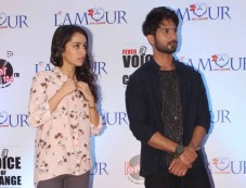 Shahid And Shraddha At Fever Voice Of Change Event Photos