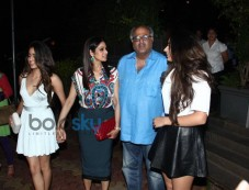 Sridevi With Her Family Snapped At A Restaurant Photos