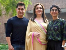 Aamir Khan, Kiran Rao And Nita Ambani Photos
