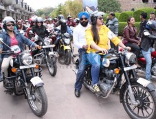 Juhi Chawla  At The NBT All Woman Bike Rally In New Delhi Photos