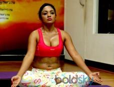 Anusmriti,Marisa And Ekta Jain Did Yoga On World Yoga Day in Mumbai Photos