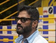 Sunil Shetty Spreads Awareness On Using Helmet Photos
