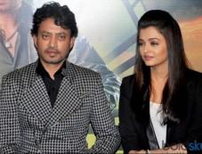 Aishwarya Rai And Irfan Khan At Jazbaa First Look Launch Photos