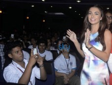 Amy Jackson Promotes Film Singh Is Bling At Jai Hind College Photos