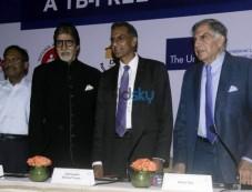 Amitabh Bachchan, Ratan Tata Promote TB-Free India Photos