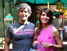 Bipasha And Milind Sonam At Pinkathon Media Meet Photos