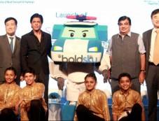 Shah Rukh Khan At The Launch Of 'Hyundai Traffic Safety' Photos
