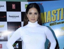 Sunny Leone During The Trailer Review Of Film Mastizaade Photos