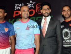 Abhishek Bachchan Clicked At The Pro Kabaddi League Press Conference Photos