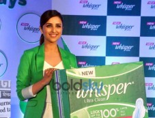 Parineeti Chopra During The Launch Of New Whisper Ultra Photos