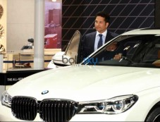 Sachin Tendulkar Launches New BMW 7-Series At Auto Expo Photos