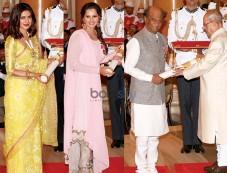 Priyanka Chopra, Rajinikanth, Sania Mirza And Kumar Sanu Conferred With Padma Awards Photos