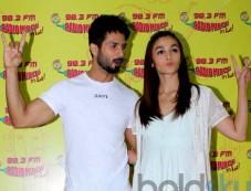 Shahid & Alia Snapped Promoting Udta Punjab At Mehboob Studio Photos
