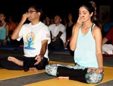 Shilpa Shetty At The IIFA Stomp Yoga Masterclass 2016 Photos