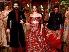 Deepika Padukone And Fawad Khan Walking The Ramp For Designer Manish Malhotra Photos