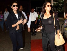 Catch Jacqueline's And Sania's Airport Look Photos
