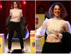 Kangana Ranaut Flaunting Her Abs At India Today Mind Rocks Photos