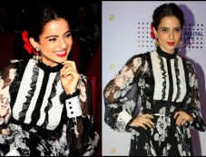 Kangana Rocks Floral Print At JIO MAMI Conference Photos