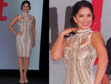 Sunny Leone In A Bodycon Dress For A Music Launch Photos