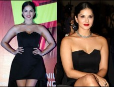 Sunny Leone Kills It In A Classic LBD With A Twist For Song Launch Photos