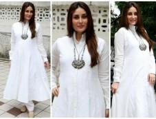 The Gorgeous Kareena Kapoor Glows In A White Anarkali Photos