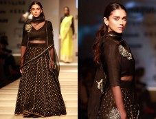 Aditi Rao Hydari Walked The Ramp At AIFW Opening Show Photos