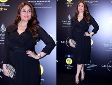 Kareena Kapoor Kept It Stylish In A Black Trench Dress At Jio MAMI Festival Photos