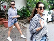 Malaika Arora Khan Rocks Checks Tshirt Photos
