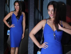 Sonakshi In Blue Dress For An Event Photos