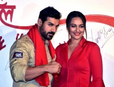 Sonakshi Sinha Looks Lovely In Red Dress For Force 2 Promotions Photos