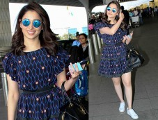 Airport Lookbook: Catch Tamannaah Flaunting Prints & Sneakers Photos